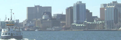 halifax harbour - court house in background